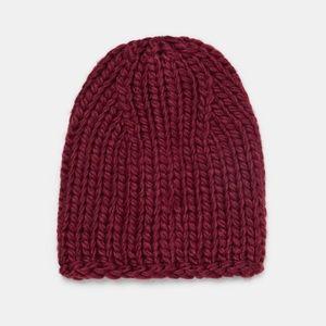 Zara burgundy oversized hat